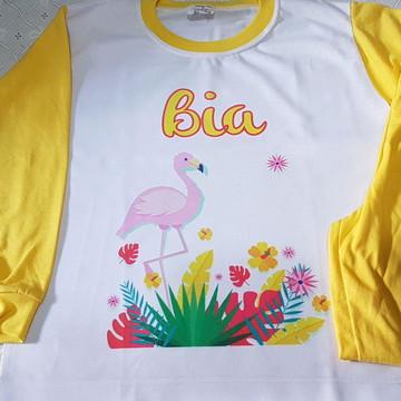 Pijama Inf. Personalizado Flamingo