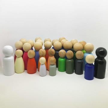 Bonecos Constelação Familiar - 30 peças