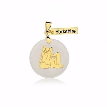 Pingente de Raça Yorkshire Banhado a Ouro