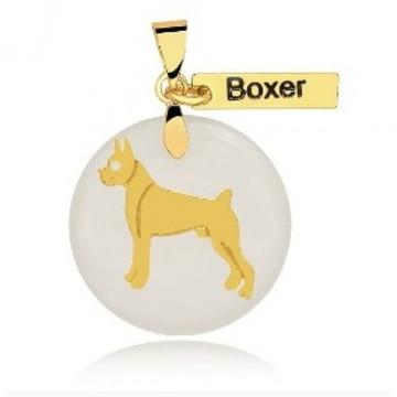 Pingente de Raça Boxer Banhado a Ouro