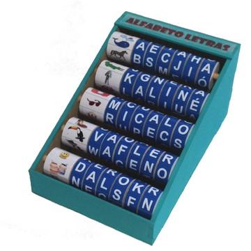 Brinquedo Educativo -Alfabeto giratório (letras)
