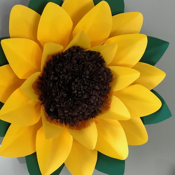 Flor de Papel Girassol TAMANHO 50 cm (unidade)