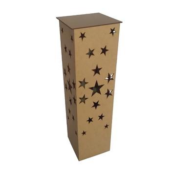 Luminária Decoração Estrela 60cm Em Mdf Cru C/ Elétrica