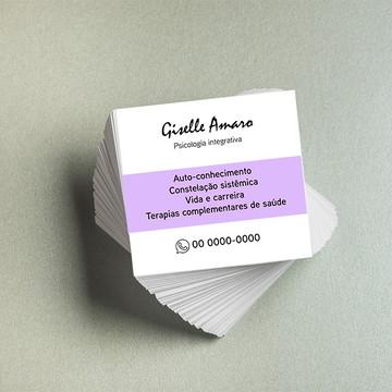 Arte digital mini cartão de visita