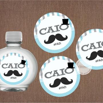 Adesivo para Garrafinha Mustache