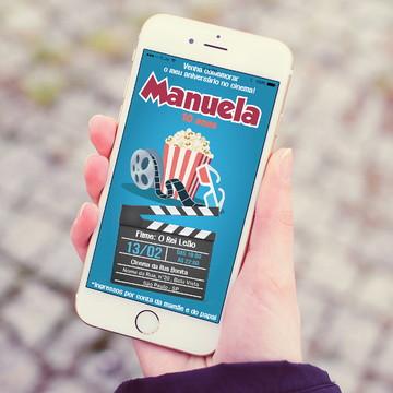 Convite digital de whatsapp - Cinema