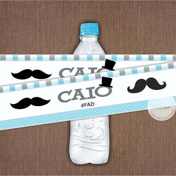 Adesivo para Garrafinha de Água Mustache