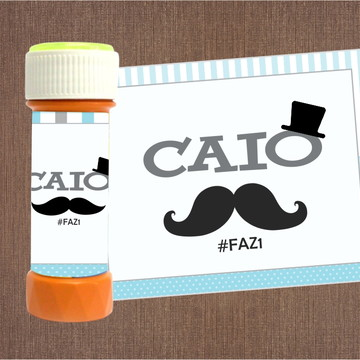 Adesivo para Bolha de sabão Mustache