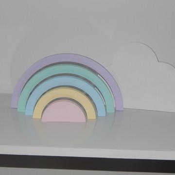 Arco-Íris com Nuvem Mdf