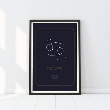 Poster Signo Câncer - A3 e A4 - Arte Digital
