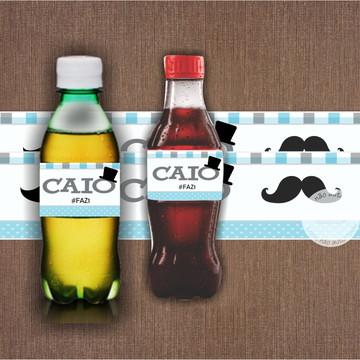 Adesivo para Refrigerante Mustache