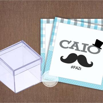 Adesivo para Caixa de Acrilico Mustache