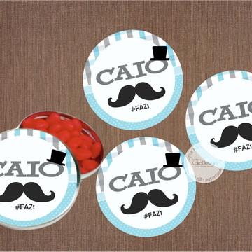 Adesivo para Latinha Mustache