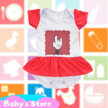 Body vestido infantil Mickey Disney