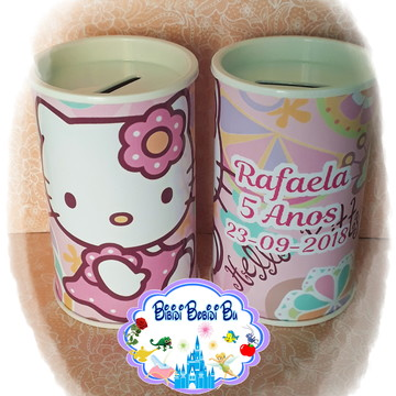 Cofrinho Personalizado - Hello Kitty