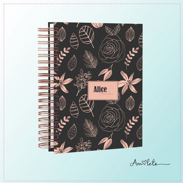 Meu Planner- Black and Rose