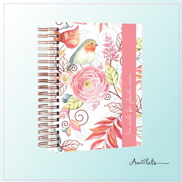 Meu Planner- Bird Rose