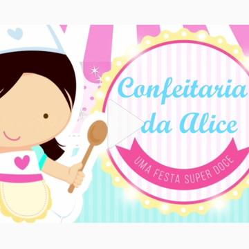 Convite Animado Tema Confeitaria