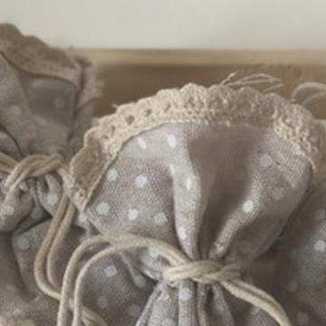 Sachê em Saquinho de tecido - Aroma Bergamota