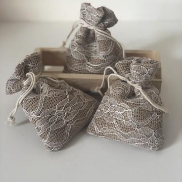 Sachê em Saquinho de tecido - Aroma Bamboo