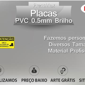 Placa Calçado de Segurança PVC