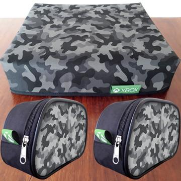 1 Capa XBOX + 2 Capas de controle Camuflado FRETE GRÁTIS