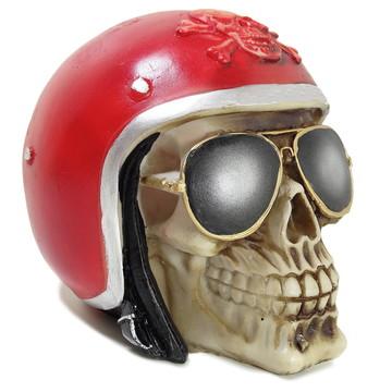 Crânio Esqueleto Caveira Resina Capacete Ray Ban Aviador