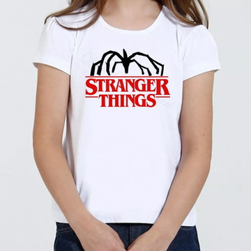 Camiseta Infantil Feminina - Stranger Things Demogorgon