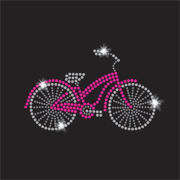 Bicicleta Aplique Termocolante em Strass