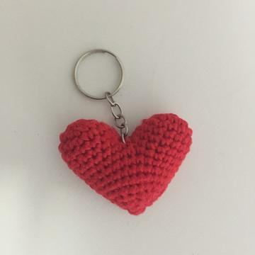 chaveirinho amigurumi de coração
