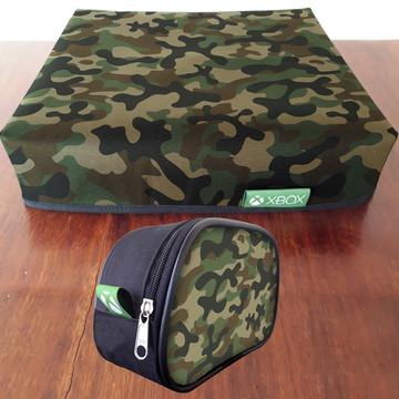 1 Capa XBOX + 1 Capa de controle camuflado FRETE GRÁTIS