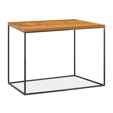 Mesa de canto madeira maciça estilo industrial