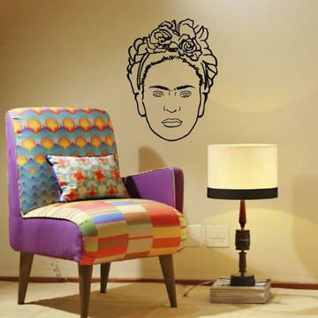 Adesivo De Parede Frida arte