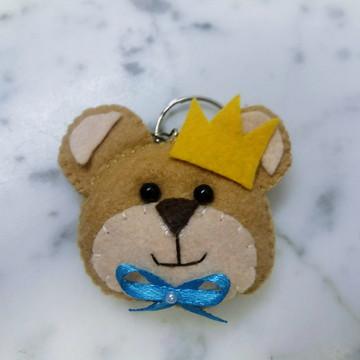 Chaveiro Príncipe Urso de Feltro
