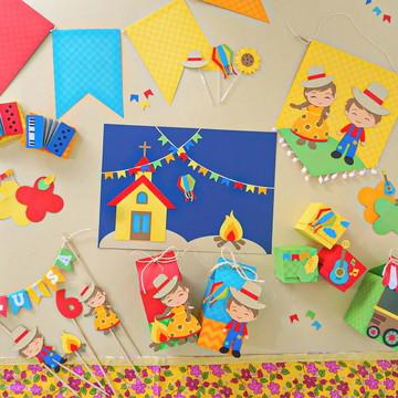Kit Festa Junina - Papelaria para Festa