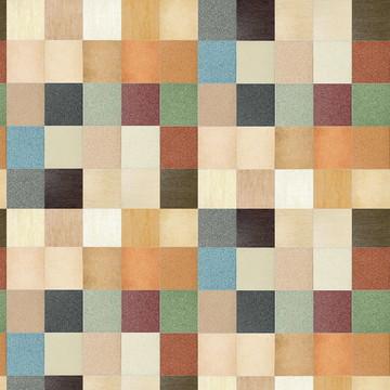 Papel de Parede Pastilhas Coloridas com Texturas