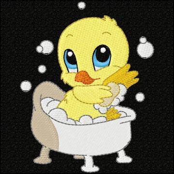 Matriz De Bordado NB3161 Patinho banho banheira