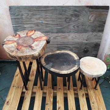 kit mesas de canto 3 peças, mesa de canto 3 peças,decor mesa
