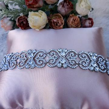 Tiara coroa de strass para noiva