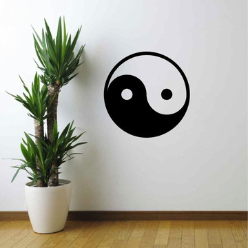 Adesivo De Parede Yin Yang