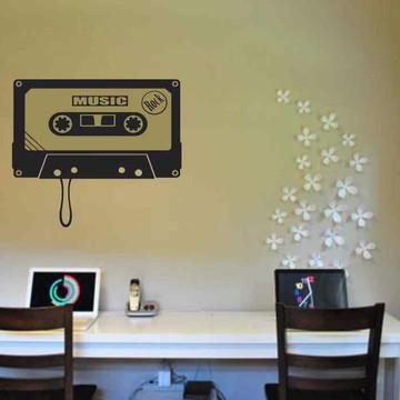 Adesivo De Parede Decorativo fita música