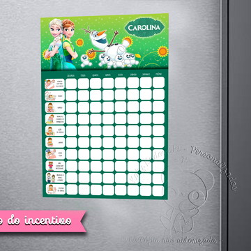 Quadro do Incentivo Frozen Fever