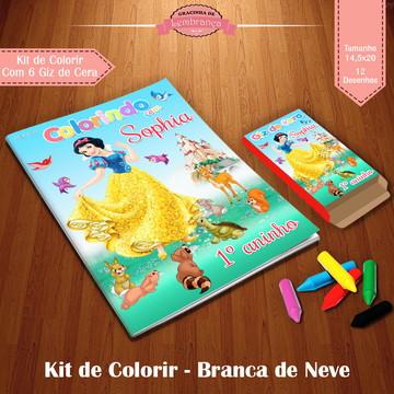 Kit de Colorir - Branca de Neve