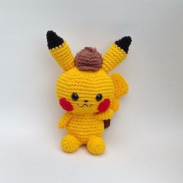 Pikachu Detetive amigurumi