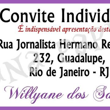 Convite individuais, senhas, lilas