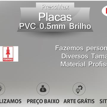 Placa Banheiro / Sanitário - Feminino PVC