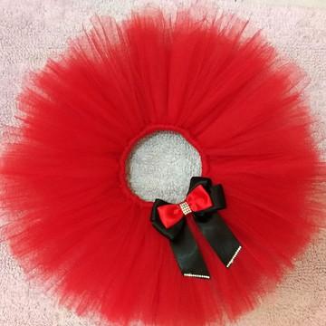 Saia tutu Minnie Vermelha