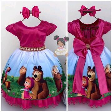 Vestido Masha e o urso Luxo mod.2