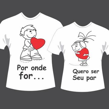 Camisa Par Perfeito Namorados