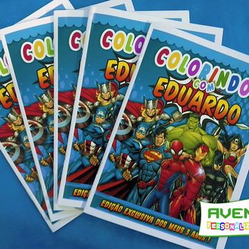 Revista de colorir Super heróis